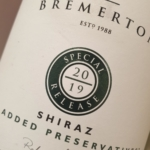 Bremerton No Added Preservatives Special Release Shiraz 2019