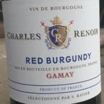 Charles Renoir Red Burgundy Gamay 2018