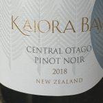 Kaiora Bay Reserve Central Otago Pinot Noir 2018