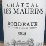 Chateau Les Maurins Bordeaux 2018