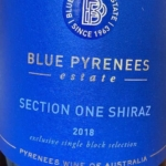 Blue Pyrenees Section One Shiraz 2018
