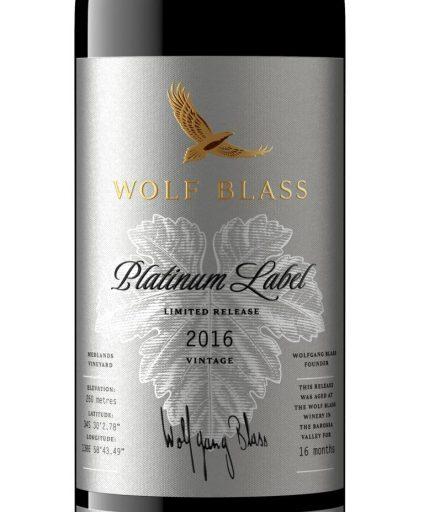 Wolf Blass Platinum Label Medlands Vineyard Shiraz 2016