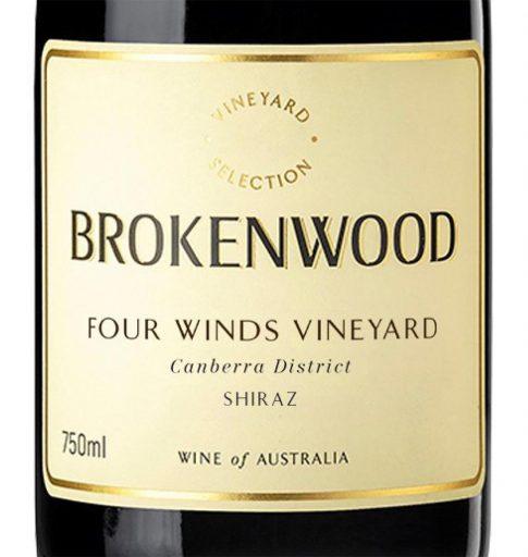 Brokenwood Wines Four Winds Vineyard Canberra Shiraz 2018